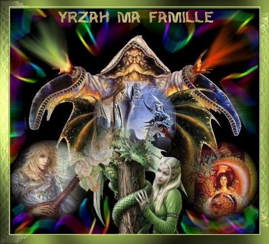 Les membres de la famille d\'Yrzah et leurs dragons
